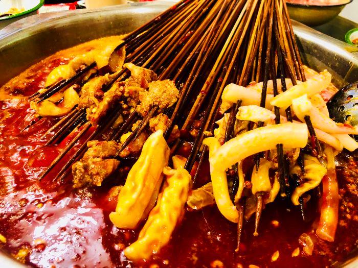 冬至节吃喳哇牛油串串
