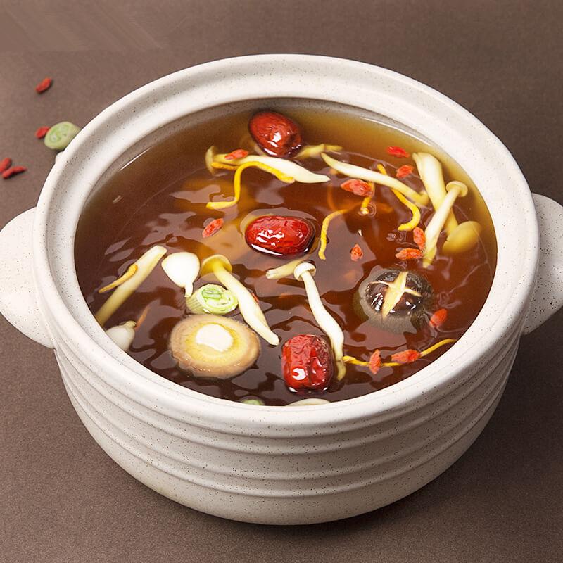 火锅串串菌汤的配料及制作方法